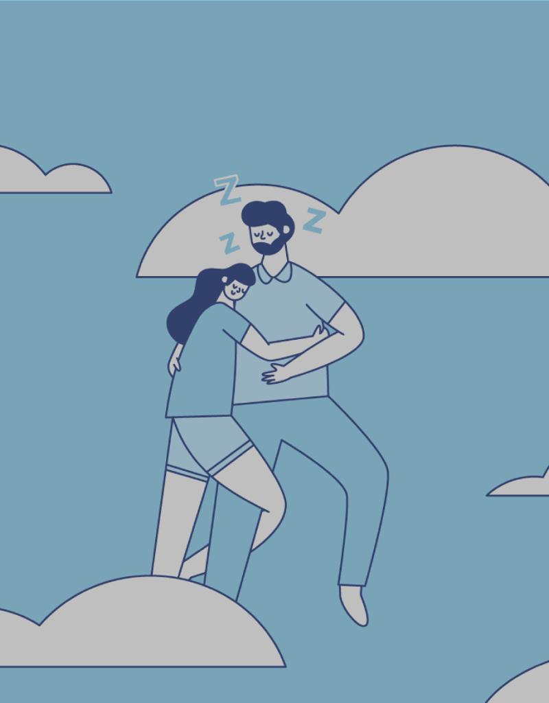 illustration of a couple sleeping