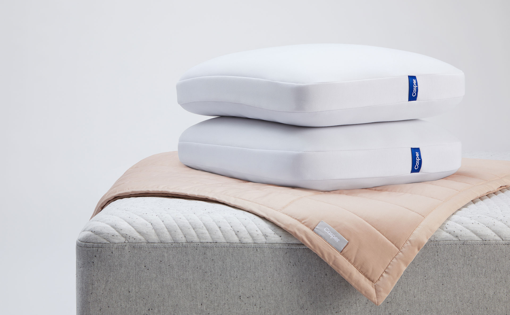 pillows on top of a mattress