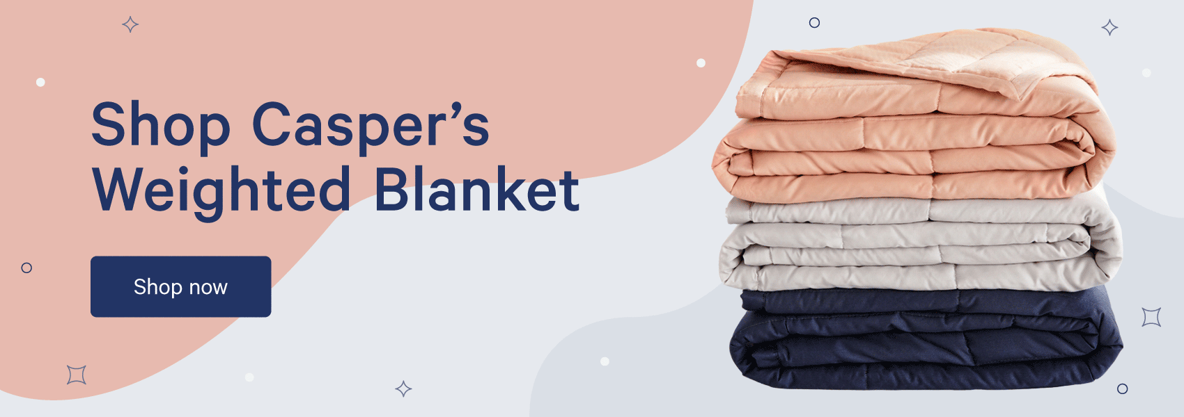 shop Casper's weighted blanket