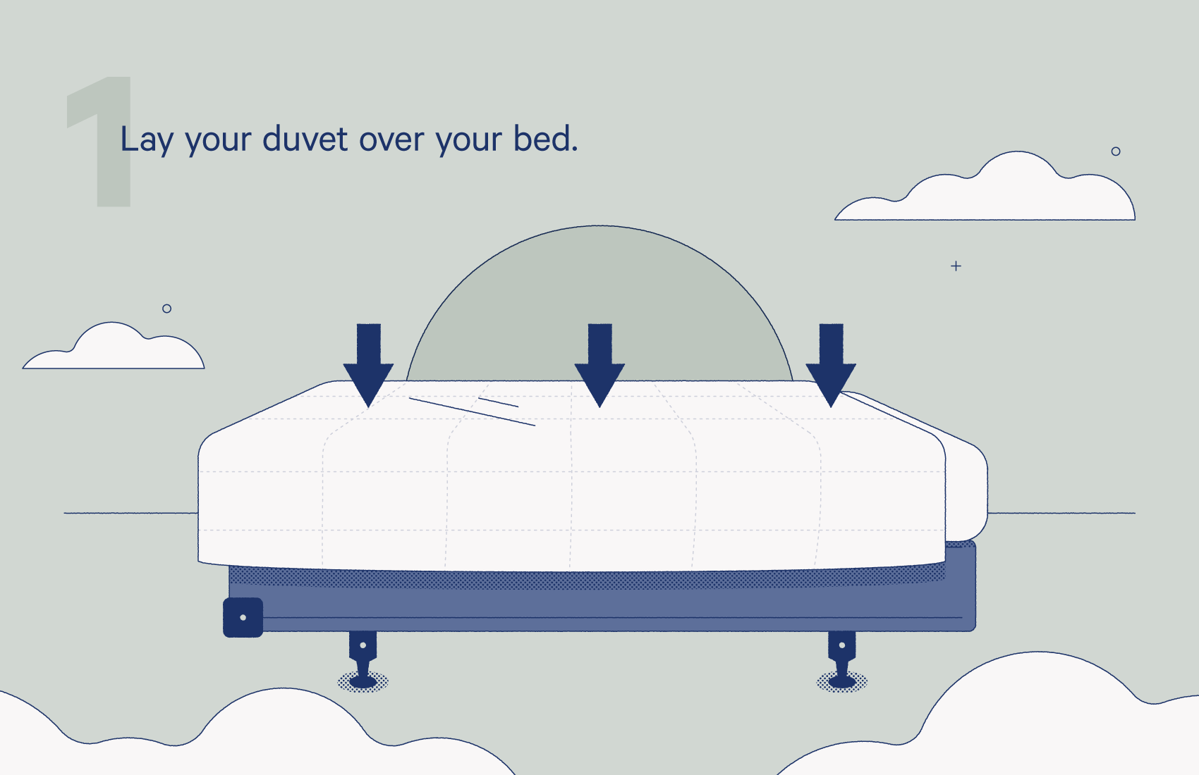 lay your duvet over your bed.