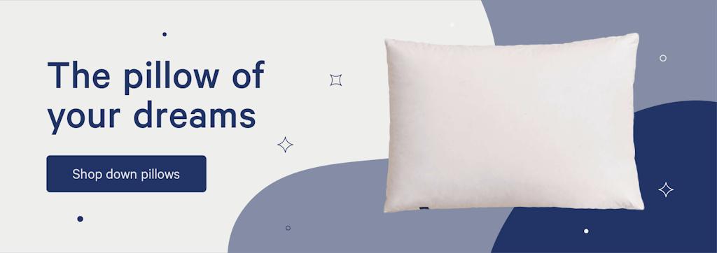 shop down pillows