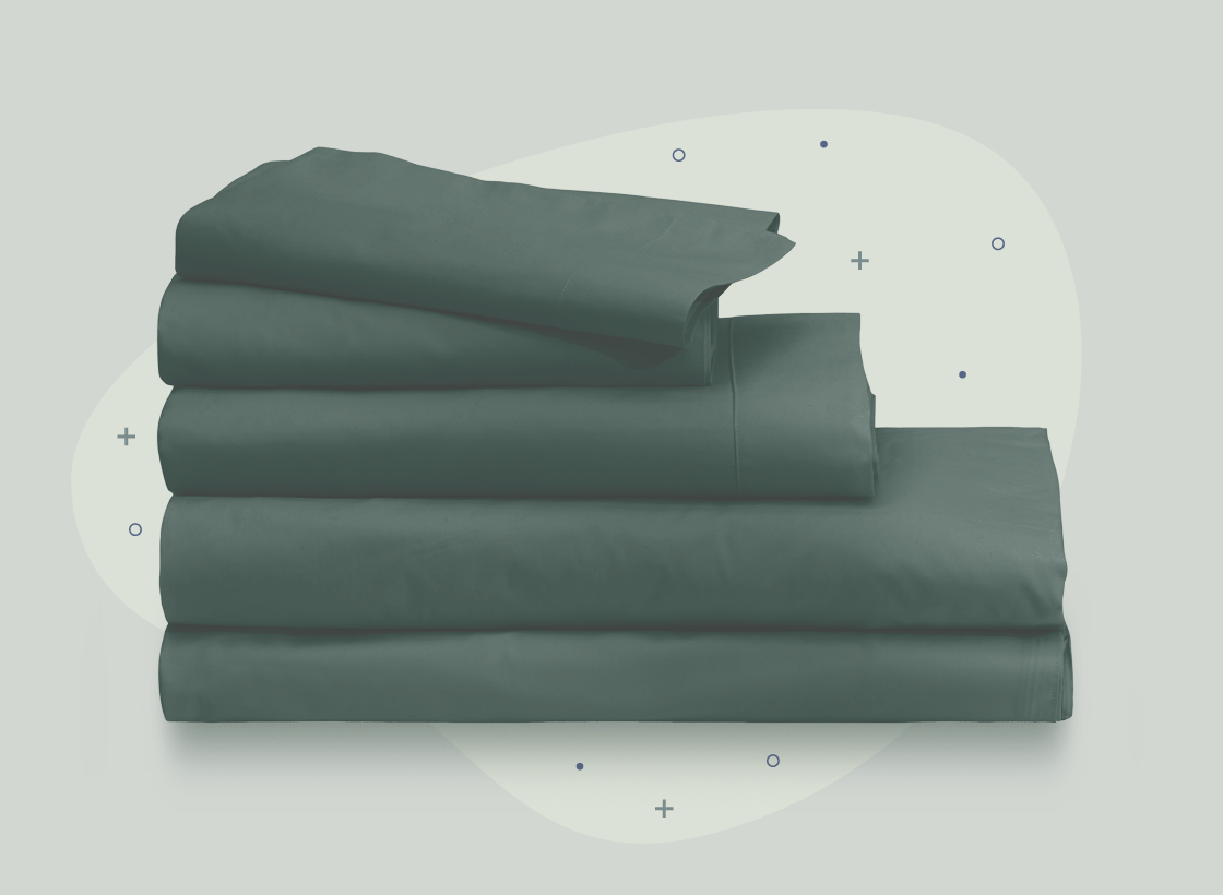 illustration of percale sheets