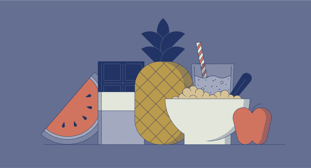 illustration of sweet late night snacks