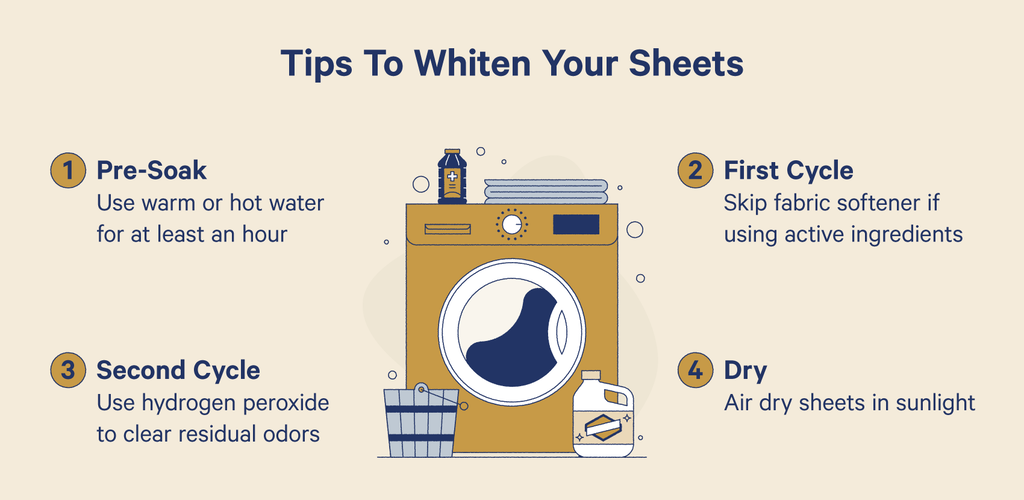 tips to whiten your sheets