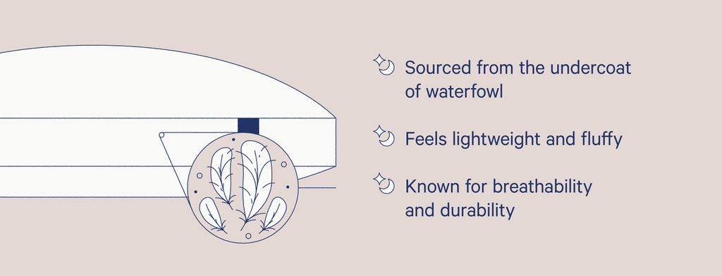 Illustration of a down pillow