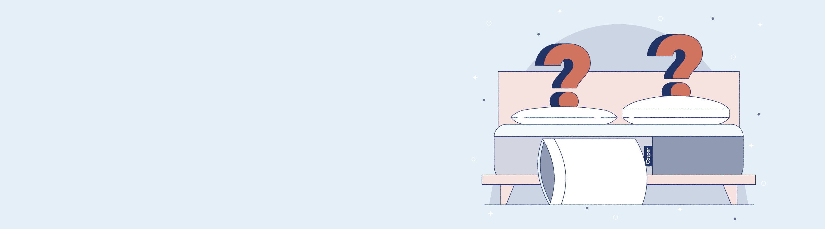 bed and pillows illustration