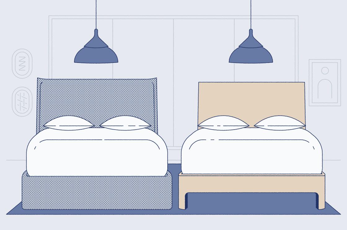 wood vs upholstered bed frame